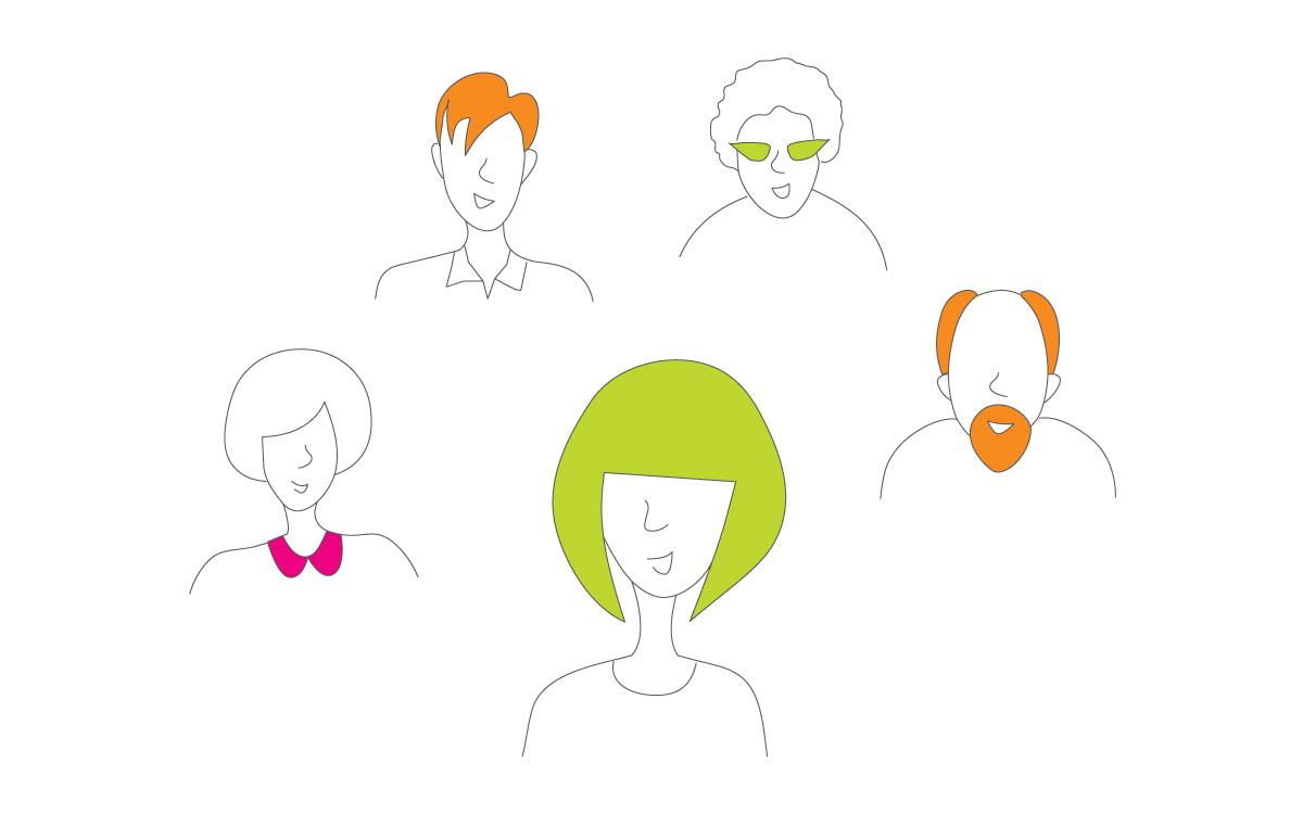 Insights ilustraciones cabezas parlantes